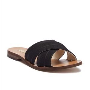 Louise Et Cie Black Side Sandals Size 7 NIB